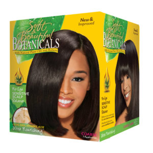 No lye sensitive scalp relaxer coarse Botanicals